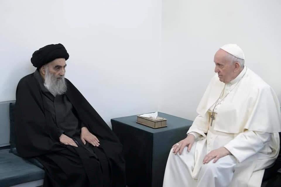 El Papa Francisco se encuentra con el Gran Ayatollah Al-Sistani - Vatican News