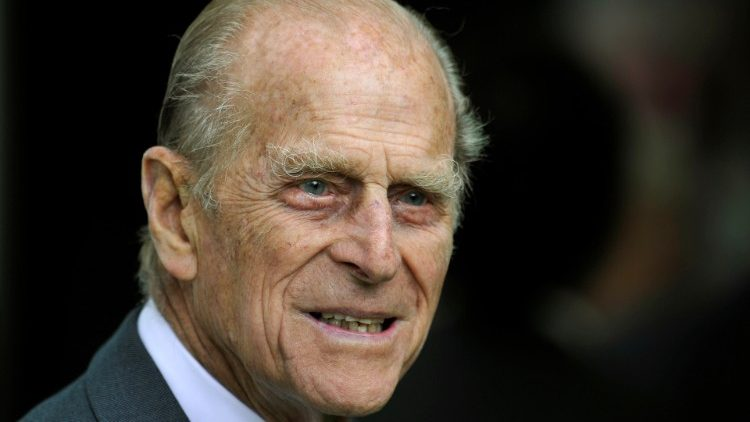 Britain's Prince Philip smiles during his visit with Queen Elizabeth to the Irish National Stud in Kildare, Ireland