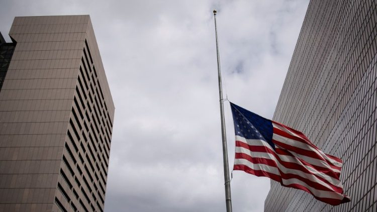 United States flag at half mast (file photo)