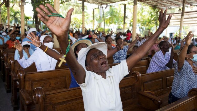 Haitian Catholics pray for an end to the nation's political and social unrest