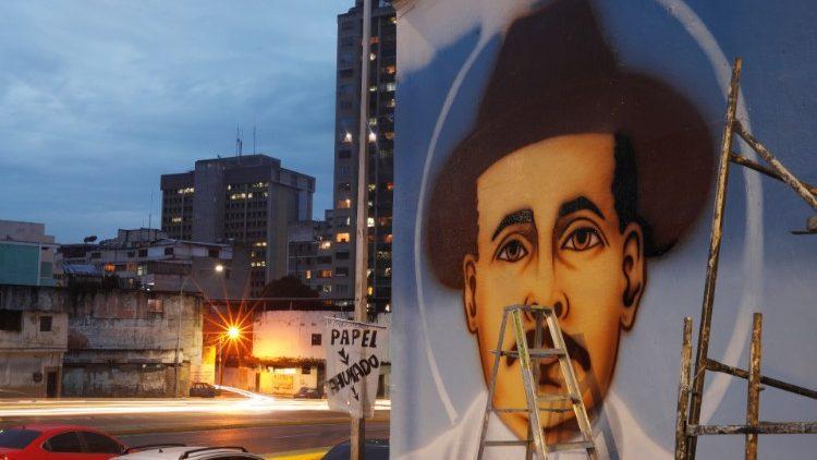 Un portrait de Jose Gregorio Hernadez à Caracas