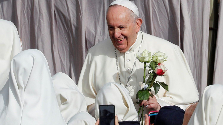 Rosas para el Papa