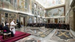 Papal audience in the Vatican's 'Sala Clementina""