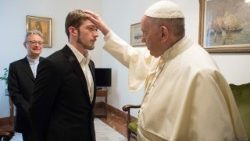Pope Francis with Thomas Evans