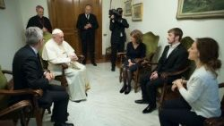 Pope Francis meets with the father of Alfie Evans