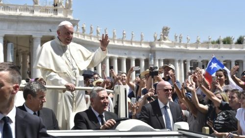 Pope Francis at the Wednesday General Audience