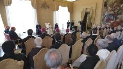 Pope Francis addresses participants in the Plenary Assembly of ROACO