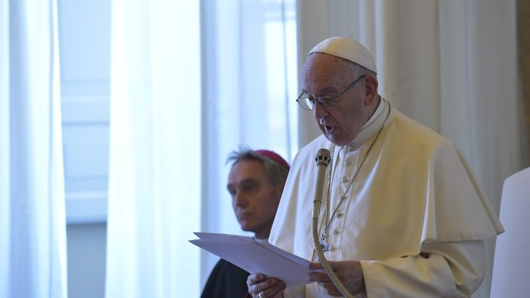 Pope Francis speaks to Gravissimum Educationis Foundation