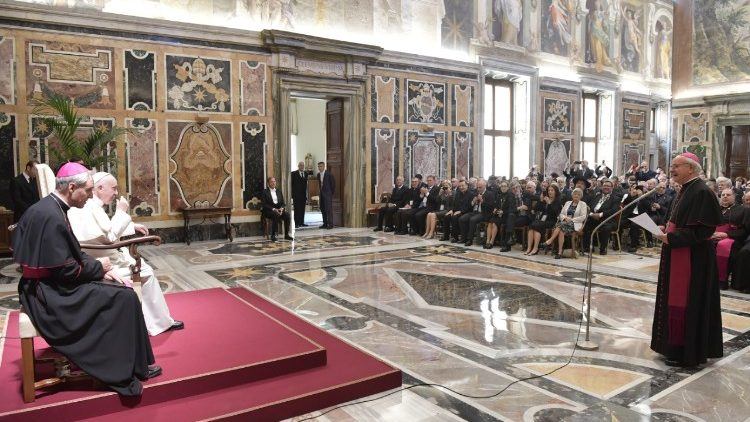 Pope Francis meets with members of the Pontifical Academy of Life