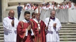 Pope Francis celebrates Mass for the Solemnity of Saints Peter and Paul