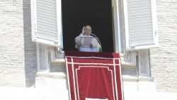 Pope Francis prays the Angelus on Sunday
