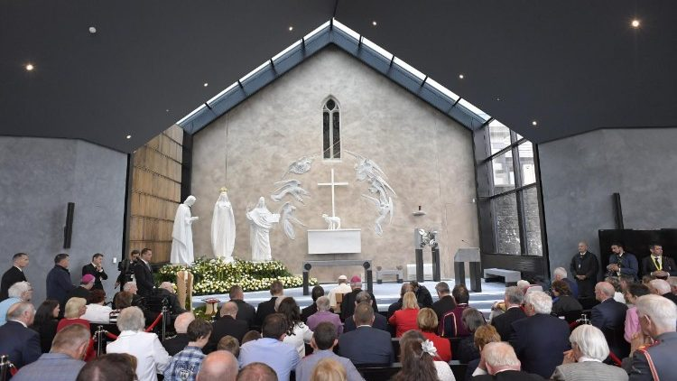 Pope Francis during his visit to Knock Shrine in 2018