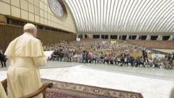 Pope Francis meeting with the Italian Parents Association in the Paul VI