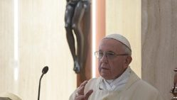 Pope Francis preaches at the daily Mass at Casa Santa Marta