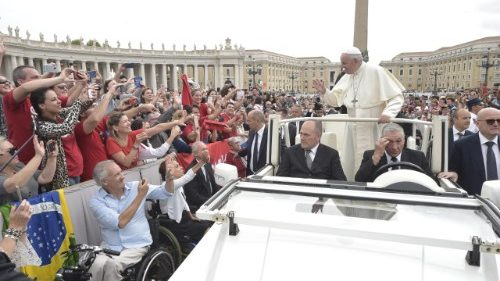 Pope Francis  at the general audience of September 19, 2018, at the Vatican.
