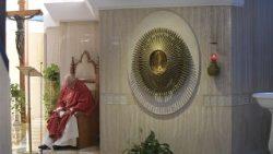 Pope Francis celebrates Holy Mass at Casa Santa Marta
