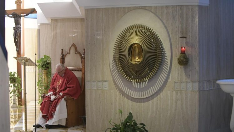 Pope Francis celebrates Holy Mass at Casa Santa Marta
