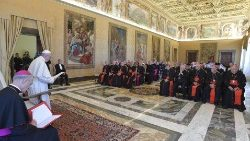 Pope Francis speaks to the Pontifical Council for Christian Unity