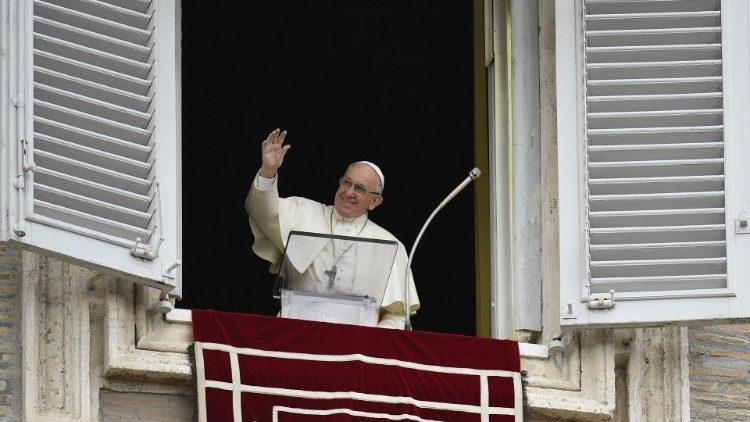 Le Pape François lors de l'Angelus du 7 octobre 2018.