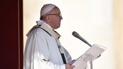 Pope Francis during the Canonization Mass