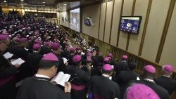 A general congregation of the Synod of Bishops in the Vatican.