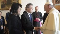 Pope receives President of the Republic of Korea