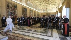 Pope Francis meets with the members of the Pontifical Academy of Science