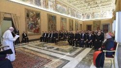 Pope Francis meets with the seminarians from Agrigento