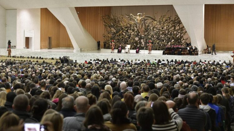 Pope Francis during the Weekly General Audience in Paul VI Hall