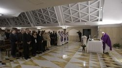 Pope Francis during the Holy Eucharist in Santa Marta