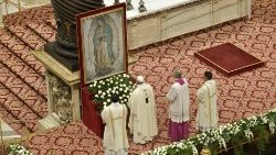 Pope Francis celebrates Mass on Feast of Our Lady of Guadalupe