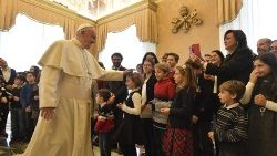 Pope Francis and children of Azione Cattolica Ragazzi (ACR).