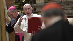 Pope to Curia: 'Grave scandals in Church, but light stronger than darkness'