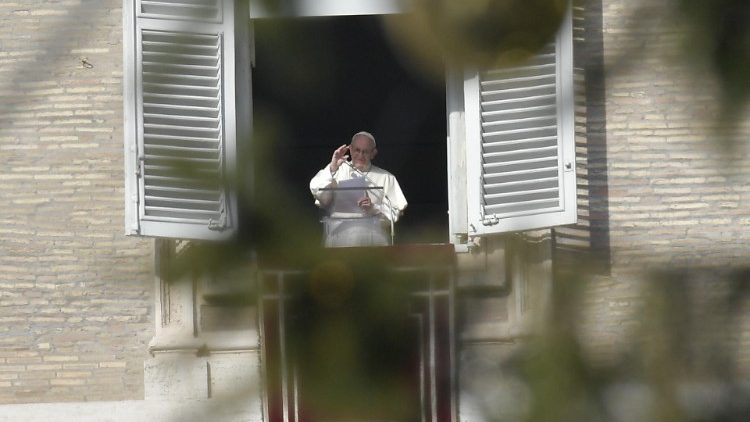 Pope during Sunday Angelus