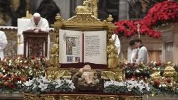 Pope Francis celebrates Mass on Christmas Eve