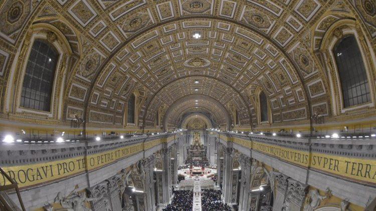 Nuova illuminazione a led per la basilica di san pietro vatican news