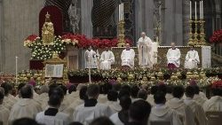 Pope Francis presides at Holy Sacrifice of the Mass for the Solemnity of the Blessed Virgin Mary, the Mother of God