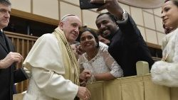 Pope Francis poses for selfie at Wednesday's General Audience