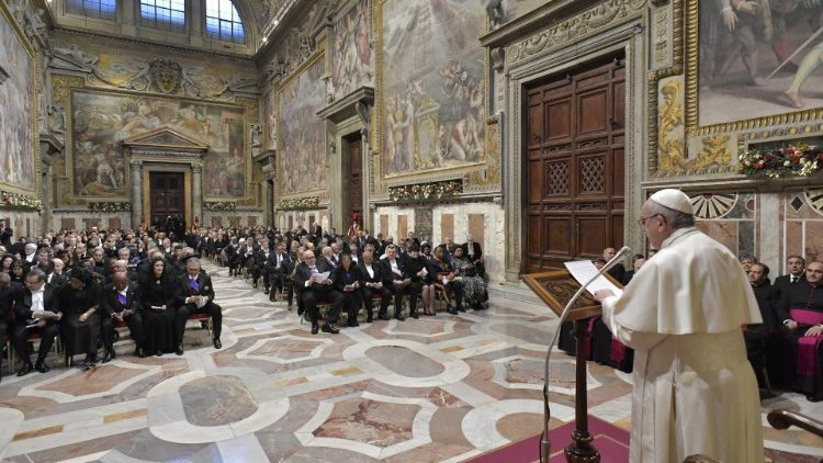 Pope addresses Diplomatic Corps