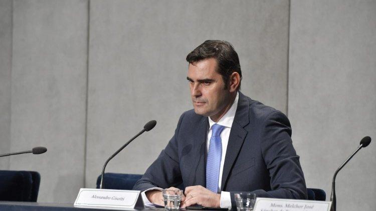 """Alessandro Gisotti, Director """"ad interim"""" de la Oficina de Prensa de la Santa Sede"""
