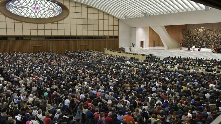 Pope Francis at General Audience in the Paul VI Hall