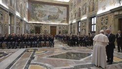Vatican's public security officers met Pope in Clementine hall