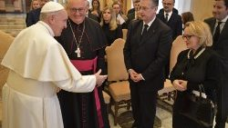 Pope Francis meets a delegation of the National Council of the Principality of Monaco