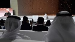 Papa Francisco no Encontro inter-religioso no Founder's Memorial, em Abu Dhabi