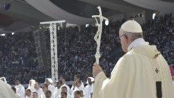 Pope Francis at Mass in the UAE
