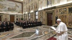 Pope addressees Alphonsian Acadamy