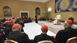 Pope Francis meeting members of the Congregation for Divine Worship and the Discipline of the Sacraments