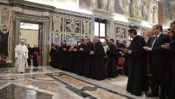 Pope Francis meets with students and staff of the Augustinianum Patristic Institute