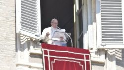 Pope Francis during the Angelus in St Peter's Square