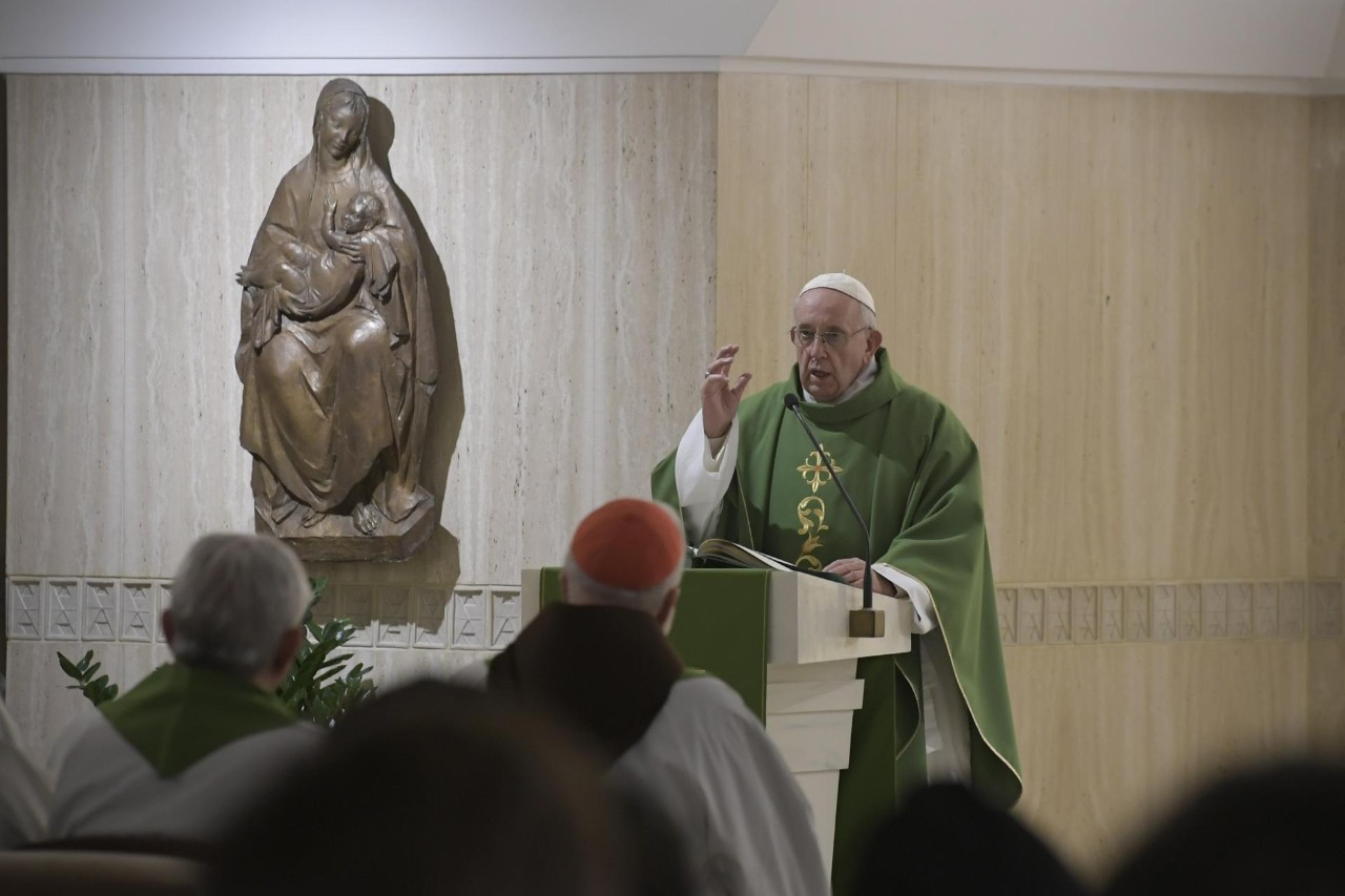 Pope Francis celebrates Mass on Tuesday